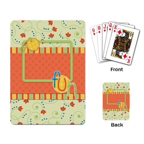 Playing Cards Fanciful Fun 1001 By Lisa Minor   Playing Cards Single Design   85et1rji7or4   Www Artscow Com Back