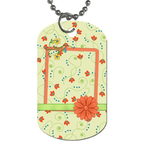 Dog Tag Fanciful Fun 1002 By Lisa Minor   Dog Tag (one Side)   I7kekjat7v95   Www Artscow Com Front