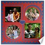 Family canvas 12x12 - Canvas 12  x 12
