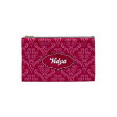 Pink Small Cosmetic Bag By Klh   Cosmetic Bag (small)   Vtwh1w2ba5av   Www Artscow Com Front