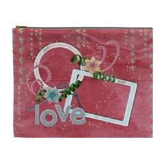 Love Cosmetic Bag Xl By Mikki   Cosmetic Bag (xl)   86ggmnadw5h4   Www Artscow Com Front