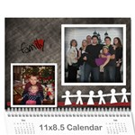 our family viau 2011 - Wall Calendar 11  x 8.5  (12-Months)