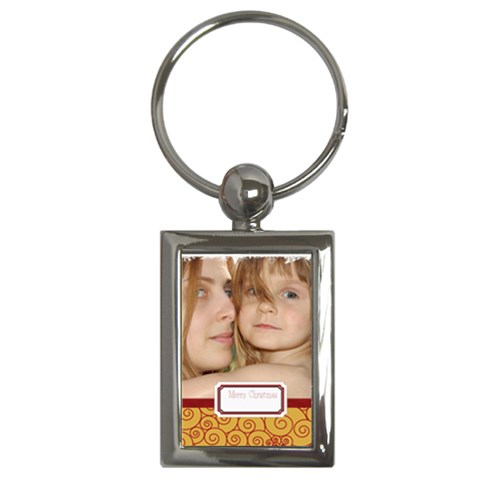 Xmas By Wood Johnson   Key Chain (rectangle)   Lwiggpuzditt   Www Artscow Com Front
