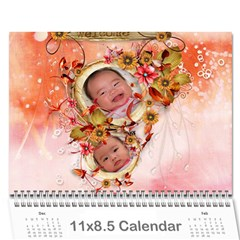 Lich 1 By Thuy Nguyen   Wall Calendar 11  X 8 5  (12 Months)   4irg80y0jmaj   Www Artscow Com Cover
