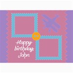 Happy birthday kids 7x5 cards - 5  x 7  Photo Cards