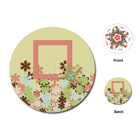 Spring Blossom Circle Cards 1001 By Lisa Minor   Playing Cards (round)   Masodaj1r16n   Www Artscow Com Front