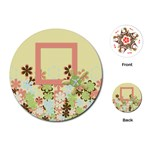 Spring Blossom Circle Cards 1001 - Playing Cards (Round)