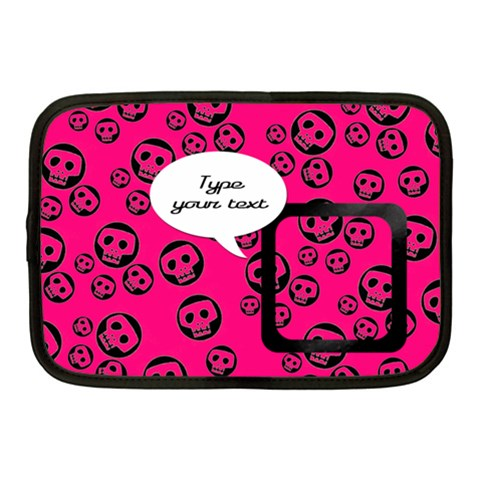 Pink Skulls   Netbook Case By Carmensita   Netbook Case (medium)   Kxnuo8cfvwr0   Www Artscow Com Front