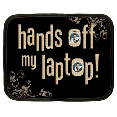 Hands Off! 15 Inch Laptop Netbook Case By Catvinnat   Netbook Case (xxl)   Rt1ssv0tfcnr   Www Artscow Com Front