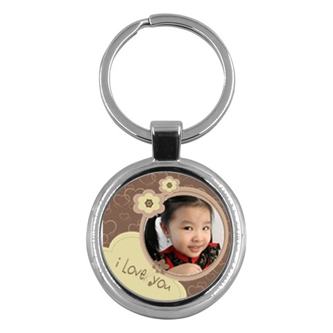 Custom Key Chain Round   I Love You By Purplekiss   Key Chain (round)   Tp00x0wkskv7   Www Artscow Com Front