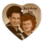 Gma Gpa Seay wedding heart ornament - Ornament (Heart)
