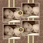 Choco Mocha Photo Canvas 12 x 12 - Canvas 12  x 12