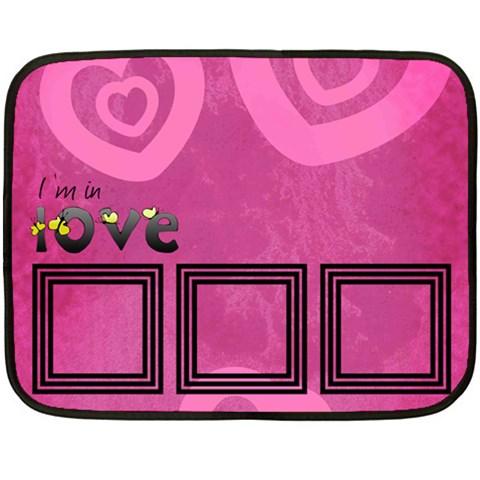 I m In Love   Blanket By Carmensita   Fleece Blanket (mini)   Erefe01smcki   Www Artscow Com 35 x27 Blanket