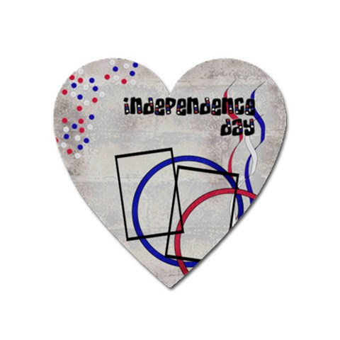 Independence Day   Magnet By Carmensita   Magnet (heart)   0e27j0n99eyu   Www Artscow Com Front