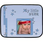 My little blue star - BLANKET - Fleece Blanket (Mini)