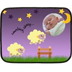 Counting sheep - BLANKET - Fleece Blanket (Mini)