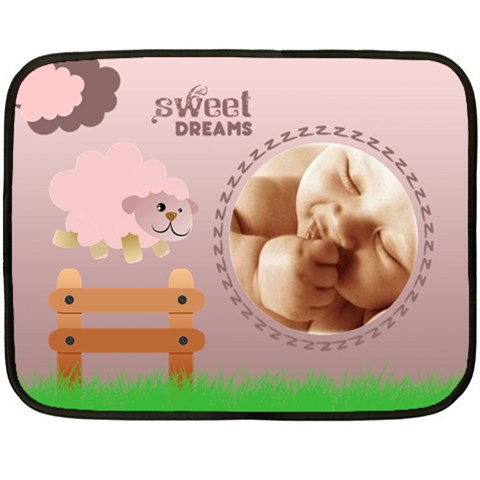 Sweet Dreams Pink   Blanket By Carmensita   Fleece Blanket (mini)   Urdut68snnp7   Www Artscow Com 35 x27 Blanket