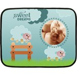 Sweet dreams BLUE - BLANKET - Mini Fleece Blanket