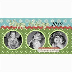 Happy Holidays 2010 Photo Card By Martha Meier   4  X 8  Photo Cards   M4uyeonfg0or   Www Artscow Com 8 x4 Photo Card - 4
