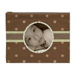 Choco Dots Cute Custom Cosmetic Bag - Cosmetic Bag (XL)