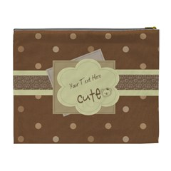 Choco Dots Cute Custom Cosmetic Bag By Purplekiss   Cosmetic Bag (xl)   0ve1zkmd3v2j   Www Artscow Com Back
