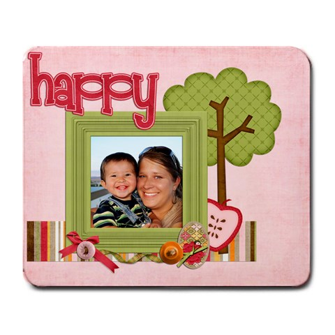 Happy Mouse Pad  By Sheena   Large Mousepad   Ysqc44q43rr2   Www Artscow Com Front