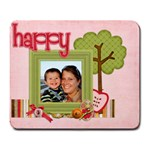 Happy mouse pad  - Large Mousepad