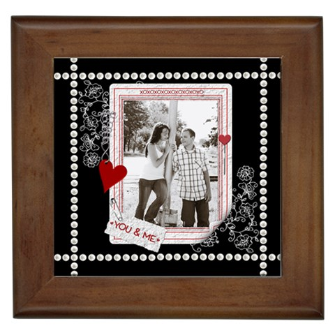 You & Me Framed Tile By Lil    Framed Tile   E2wsk9xe7xun   Www Artscow Com Front