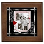 You & Me Framed Tile