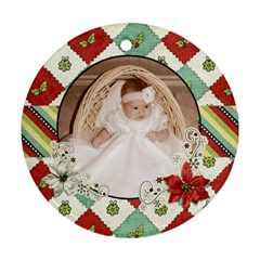 Joy Ornament 1 By Sheena   Round Ornament (two Sides)   Hjg99rqeuqju   Www Artscow Com Front