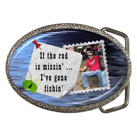 Fishing Belt Buckle By Lil    Belt Buckle   192avxvg9k3r   Www Artscow Com Front