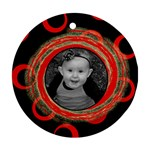 Red wild ornament - Ornament (Round)