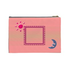 Day & Night   Large Cosmetic Bag By Daniela   Cosmetic Bag (large)   Bzhu1eyvpqm4   Www Artscow Com Back