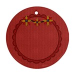 Gypsy Fall 2 Sided Ornament 1002 - Round Ornament (Two Sides)