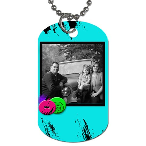 Turquoise Singe Photo Dogtag By Amanda Bunn   Dog Tag (one Side)   5zvhs4z4gncb   Www Artscow Com Front