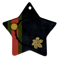 Gypsy Fall 2 Sided Star Ornament 1001 By Lisa Minor   Star Ornament (two Sides)   Mebou3ed90vt   Www Artscow Com Front