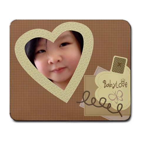 Baby Love Large Custom Mousepad By Purplekiss   Large Mousepad   W8c5rxjquwaq   Www Artscow Com Front
