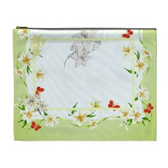 Flower Framed Cosmetic Bag Xl 4 By Galya   Cosmetic Bag (xl)   Ii962ebjeq7w   Www Artscow Com Front
