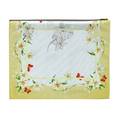 Flower Framed Cosmetic Bag Xl 4 By Galya   Cosmetic Bag (xl)   Ii962ebjeq7w   Www Artscow Com Back