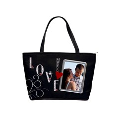 Love Makes The World Go Round Shoulder Handbag By Lil    Classic Shoulder Handbag   3b7ml9y5eqfy   Www Artscow Com Front