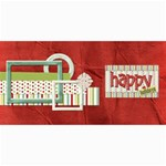 Happy Holidays 8x4 Card 1001 - 4  x 8  Photo Cards