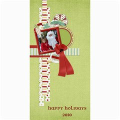 Happy Holidays 4x8 Card 1002 By Lisa Minor   4  X 8  Photo Cards   F1om1kfysgj5   Www Artscow Com 8 x4  Photo Card - 8