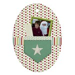 Happy Holidays Ornament-Oval 1001 - Oval Ornament (Two Sides)
