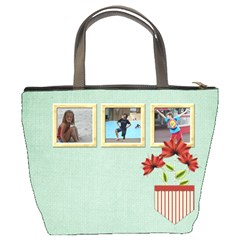 Happy Holidays Bucket Bag 1001 By Lisa Minor   Bucket Bag   Ca4jdu47hj6m   Www Artscow Com Back
