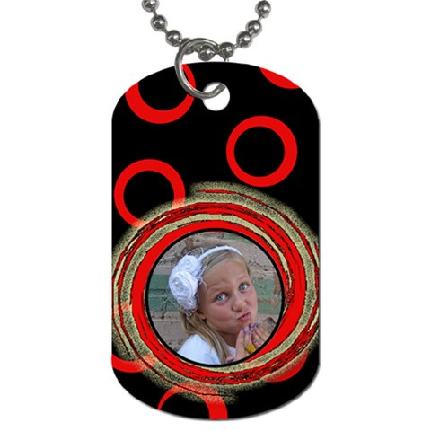 Red Tag By Amanda Bunn   Dog Tag (one Side)   Sn7nqzk1e99r   Www Artscow Com Front