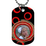 Red Tag - Dog Tag (One Side)