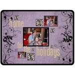 Home for the Holidays  x extra large triple frame Fleece - Fleece Blanket (Extra Large)