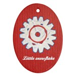 Little snowflake - Ornament (Oval)