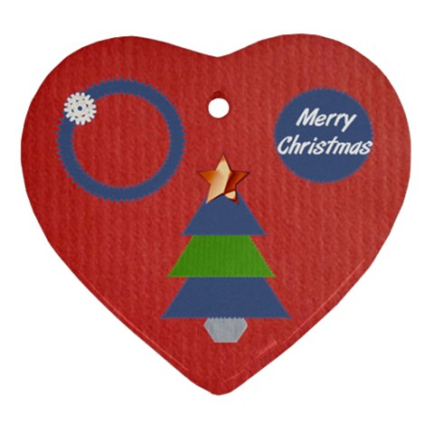 Merry Christmas By Daniela   Ornament (heart)   8xw9vu20bctv   Www Artscow Com Front