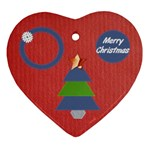 Merry Christmas - Ornament (Heart)